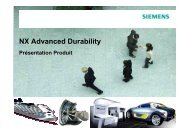 NX Advanced Durability - Siemens PLM Software