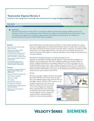Teamcenter Express Version 2 - Siemens PLM Software