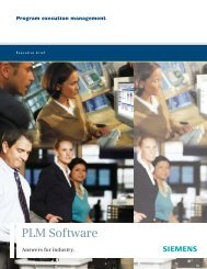 Program execution management - Siemens PLM Software