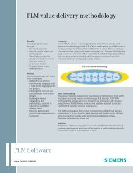 PLM value delivery methodology - Siemens PLM Software