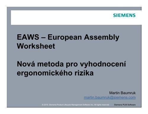 EAWS - Siemens PLM Software