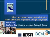 What can research on atypical signing tell us about the linguistics of ...
