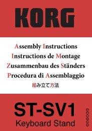 KORG ST-SV1 Assembly Instructions