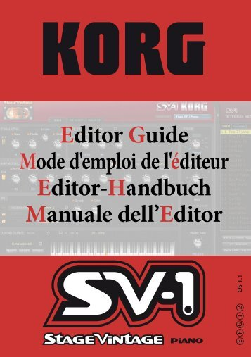 installing the sv-1 editor