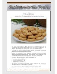 Friesenblätter - Backen wie die Profis