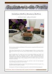 Heidelbeer-Muffins (Blueberry-Muffins) - Backen wie die Profis