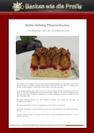 Butter-Hefeteig Pflaumenkuchen - Backen wie die Profis