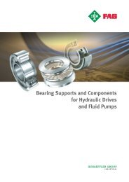 Bearing Supports and Components for Hydraulic Drives ... - Hedan