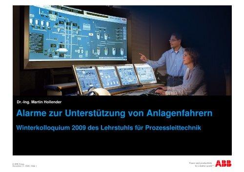 Winterkolloquium ACPLT 2009 - Lehrstuhl für Prozessleittechnik