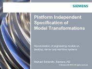 Platform Independent Model Transformation