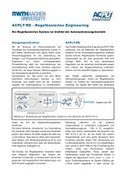 Broschüre ACPLT/RE - Lehrstuhl für Prozeßleittechnik - RWTH ...