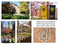 2011-2012 Endowment Annual Report - Pacific Lutheran University