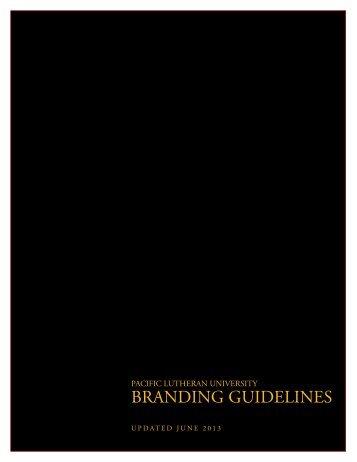 PLU Branding Guidelines - Pacific Lutheran University