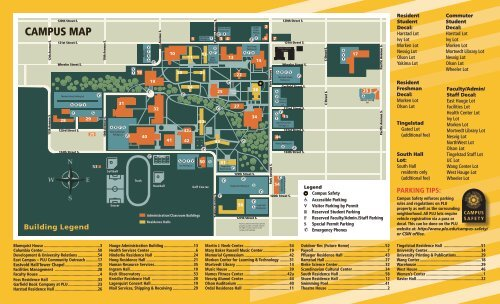 Plu Campus Map Pacific Lutheran University