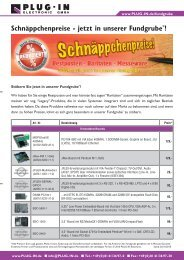 Schnäppchenliste als PDF - PLUG-IN Electronic GmbH