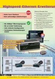 Ethernet-Extender im Überblick - PLUG-IN Electronic GmbH