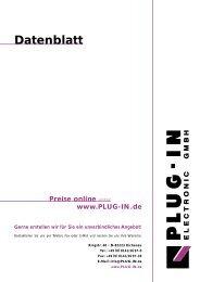 Datenblatt - PLUG-IN Electronic GmbH