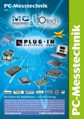 PC-Messtechnik - PLUG-IN Electronic GmbH