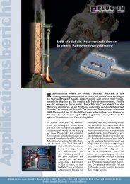 Raketenmotorprüfstand - PLUG-IN Electronic GmbH