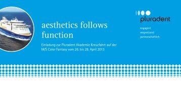 aesthetics follows function - Pluradent