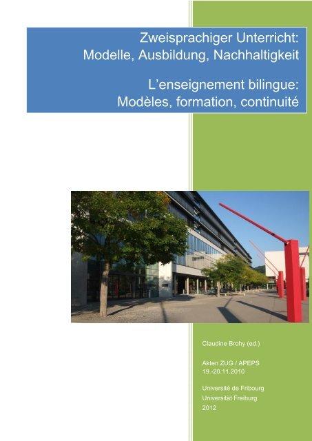Publikationen - Université de Fribourg