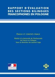 rapport d'évaluation des sections bilingues francophones ... - Frantice