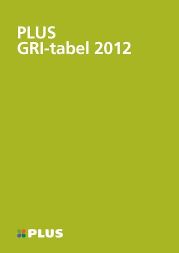 PLUS GRI-tabel 2012