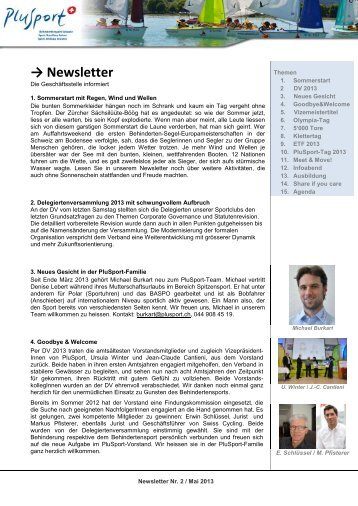 Newsletter Nr. 2, Mai 2013 - Plusport