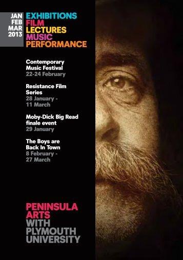 Peninsula Arts brochure - January - March 2013 - Plymouth