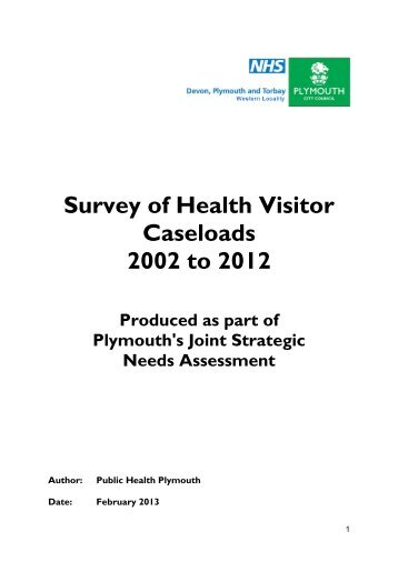 Survey of Health Visitor Caseloads 2002 to 2012 - Plymouth City ...