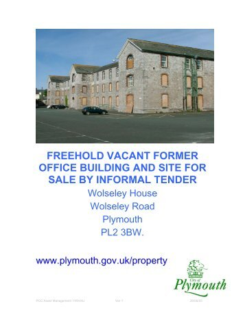 freehold vacant former office building and site for sale by informal ...