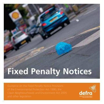 Fixed penalty notices - Plymouth City Council