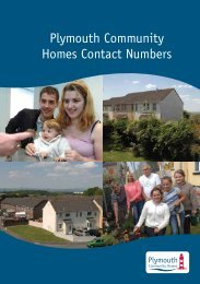 Useful Contact Numbers Leaflet - Plymouth Community Homes