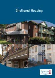 Sheltered Housing Leaflet (671.2kb) - Plymouth Community Homes