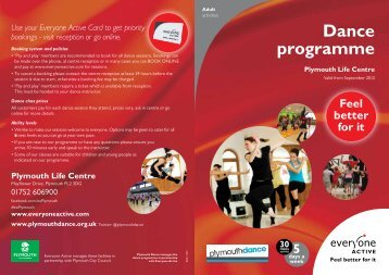 Dance programme - Plymouth Dance