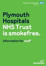 Download the information leaflet for members of staff - Plymouth ...