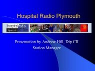 Hospital Radio Plymouth - Plymouth Hospitals NHS Trust