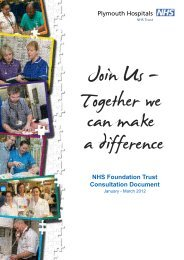 NHS Foundation Trust Consultation Document - Plymouth Hospitals ...