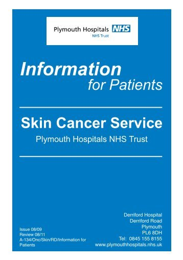 Skin Cancer Service - Plymouth Hospitals