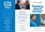 Charitable Donation Form here - Plymouth Hospitals NHS Trust