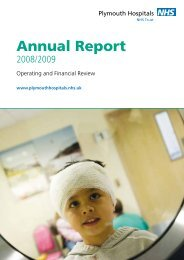 View the Annual Report - Plymouth Hospitals