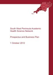 South West Peninsula Academic Health Science ... - Torbay Care Trust