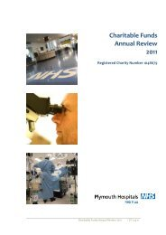Charitable Funds Annual Review 2011 - Plymouth Hospitals NHS ...