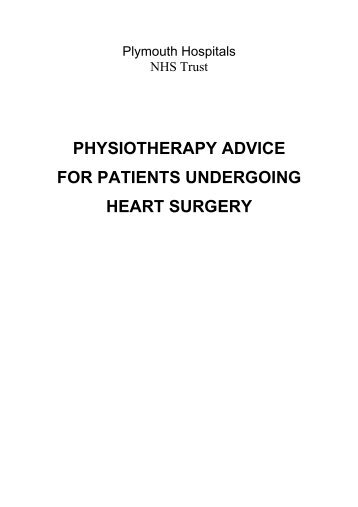 physiotherapy advice for patients undergoing heart surgery