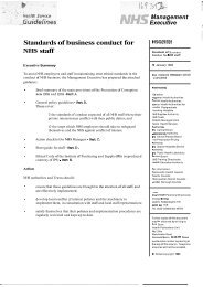 Standards of business conduct for NHS staff - Liverpool Community ...