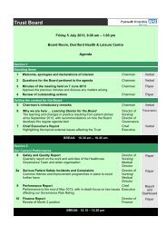 Agenda and supporting papers - Plymouth Hospitals NHS Trust