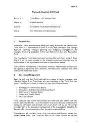 Foundation Trust Board Membership - Plymouth Hospitals