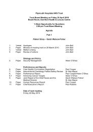 Agenda and papers - Plymouth Hospitals NHS Trust