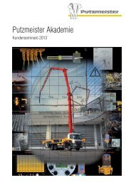 Kundenseminare 2013 - Putzmeister Akademie
