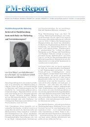 Marktforschung und ihre Bedeutung - PM-Report